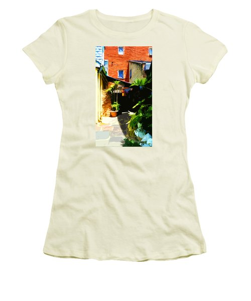 New Orleans Back Door Women's T-Shirt (Athletic Fit)