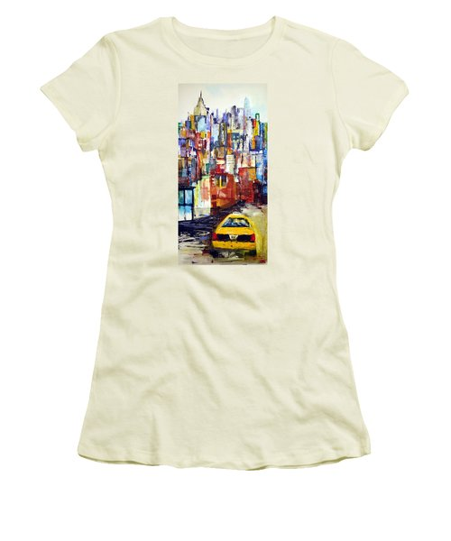 New York Cab Women's T-Shirt (Athletic Fit)