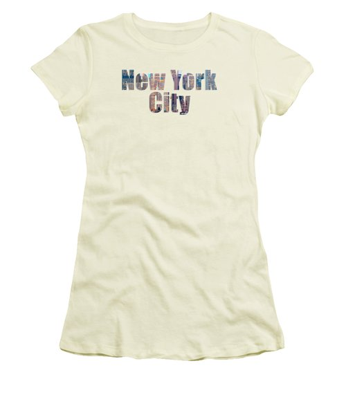 New York Font V2 Women's T-Shirt (Athletic Fit)