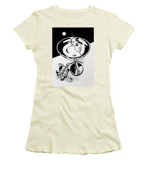 New York Martini Women's T-Shirt (Junior Cut) by Yelena Tylkina