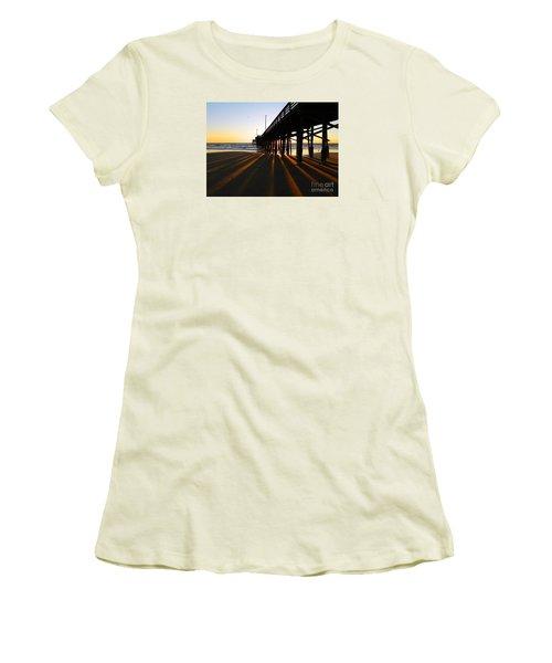 Newport Pier, Newport Beach   Women's T-Shirt (Junior Cut) by Everette McMahan jr