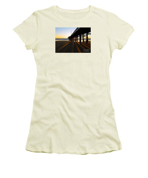Newport Pier, Newport Beach   Women's T-Shirt (Athletic Fit)