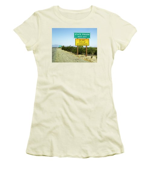 Next Exit Women's T-Shirt (Athletic Fit)