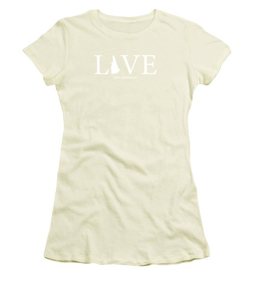 Nh Love Women's T-Shirt (Junior Cut) by Nancy Ingersoll