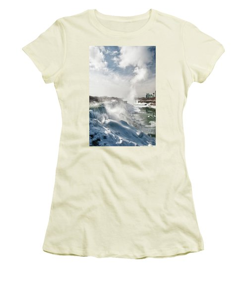 Women's T-Shirt (Junior Cut) featuring the photograph Niagara Falls 4601 by Guy Whiteley