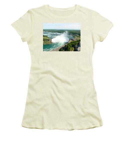 Women's T-Shirt (Athletic Fit) featuring the photograph Niagara Falls Ontario by Charles Kraus