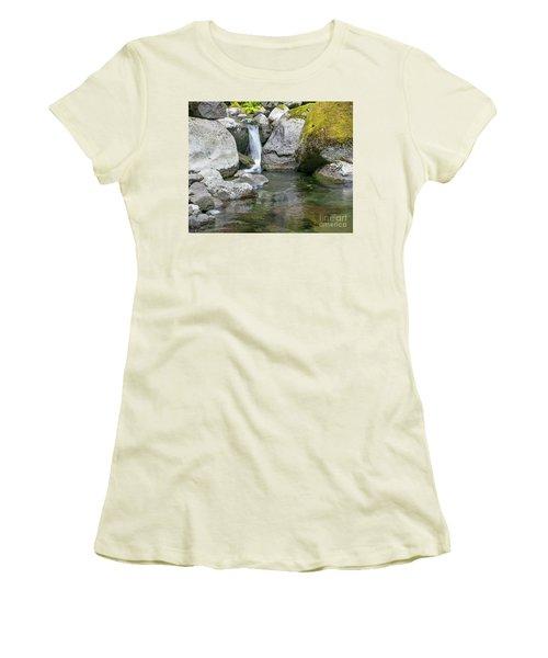 Nickel Creek 1019 Women's T-Shirt (Junior Cut) by Chuck Flewelling