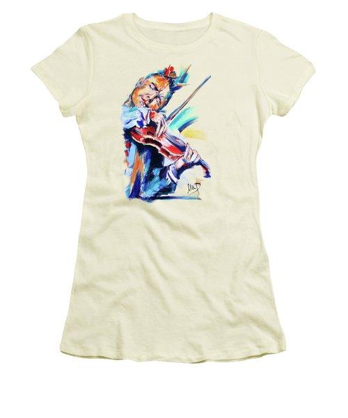Nigel Kennedy Women's T-Shirt (Junior Cut) by Melanie D
