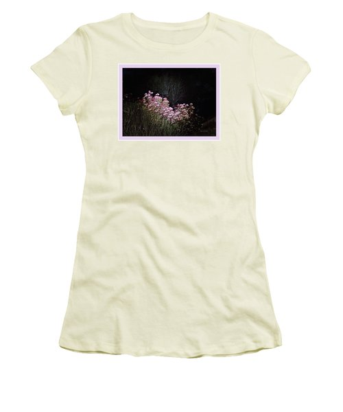 Night Flowers Women's T-Shirt (Junior Cut) by YoMamaBird Rhonda