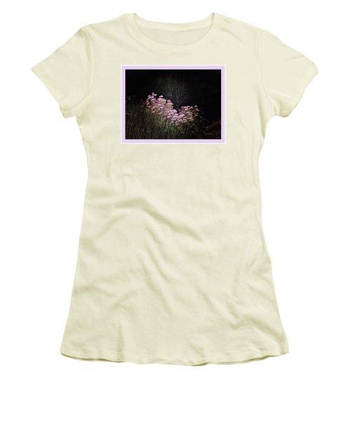 Night Flowers Women's T-Shirt (Junior Cut) by YoMamaBird Rhonda
