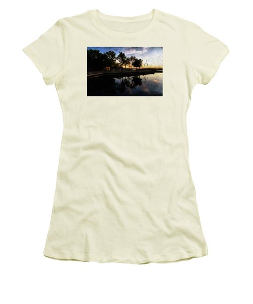 Night Harbour Women's T-Shirt (Athletic Fit)