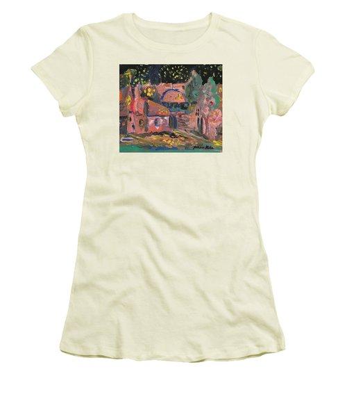 Night Landscape Women's T-Shirt (Junior Cut) by Rita Fetisov