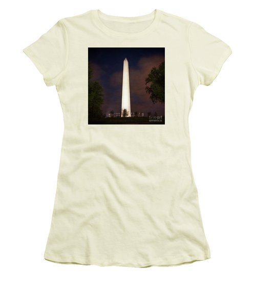 Night Monument Women's T-Shirt (Athletic Fit)