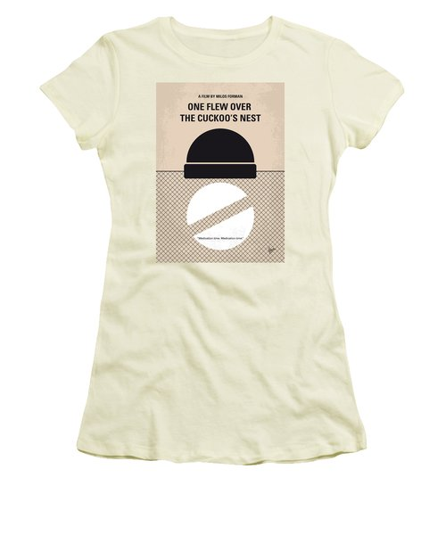 No454 My One Flew Over The Cuckoos Nest Minimal Movie Poster Women's T-Shirt (Athletic Fit)