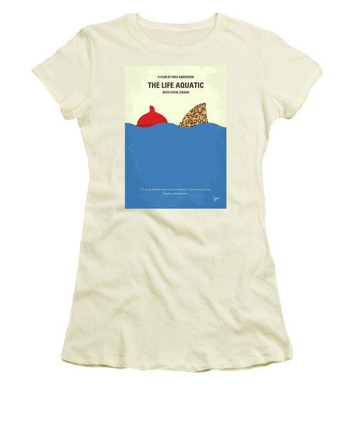 Women's T-Shirt (Junior Cut) featuring the digital art No774 My The Life Aquatic With Steve Zissou Minimal Movie Poster by Chungkong Art