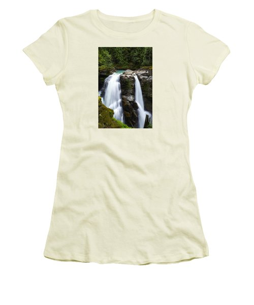 Nooksack Falls Women's T-Shirt (Athletic Fit)