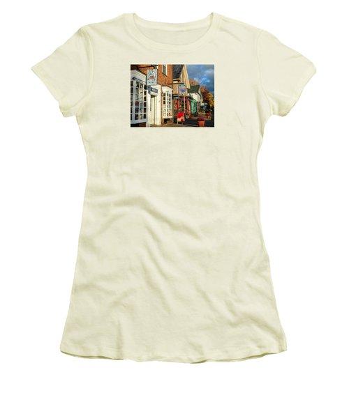North Conway Village 2 Women's T-Shirt (Junior Cut) by Nancy De Flon