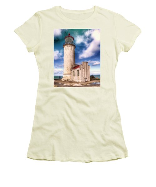 North Head Lighthouse - Washington Coast Women's T-Shirt (Athletic Fit)