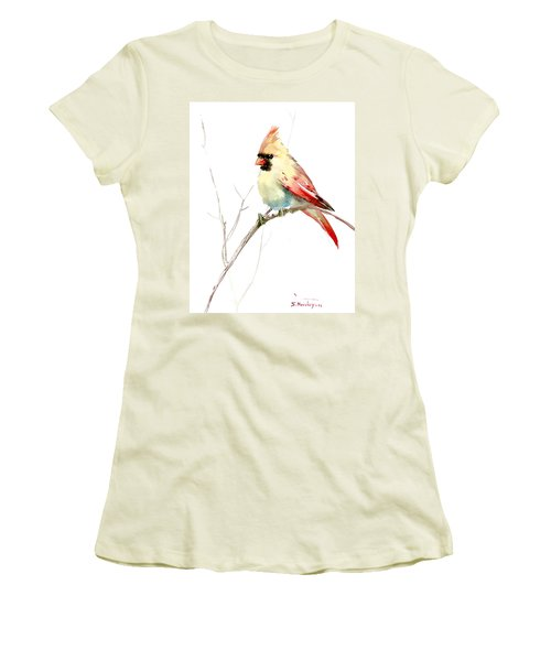 Northern Cardinal,female Women's T-Shirt (Junior Cut) by Suren Nersisyan