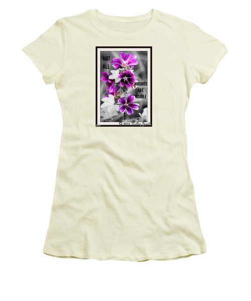 Not All Wounds Women's T-Shirt (Junior Cut) by Holley Jacobs