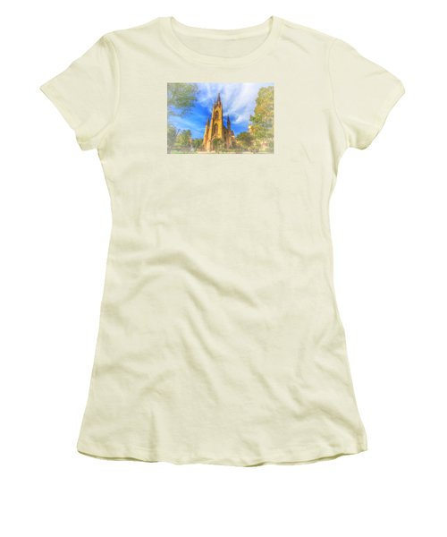 Notre Dame University 5 Women's T-Shirt (Junior Cut) by David Haskett