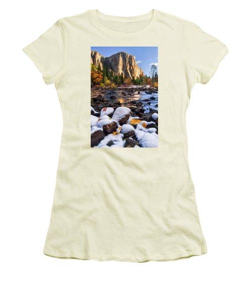 November Morning Women's T-Shirt (Junior Cut) by Anthony Michael Bonafede