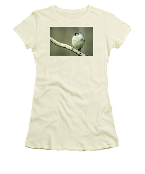 Titmouse Thinking About Weighty Matters Women's T-Shirt (Athletic Fit)