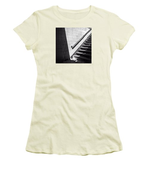 Ny Subway Stairs Women's T-Shirt (Athletic Fit)
