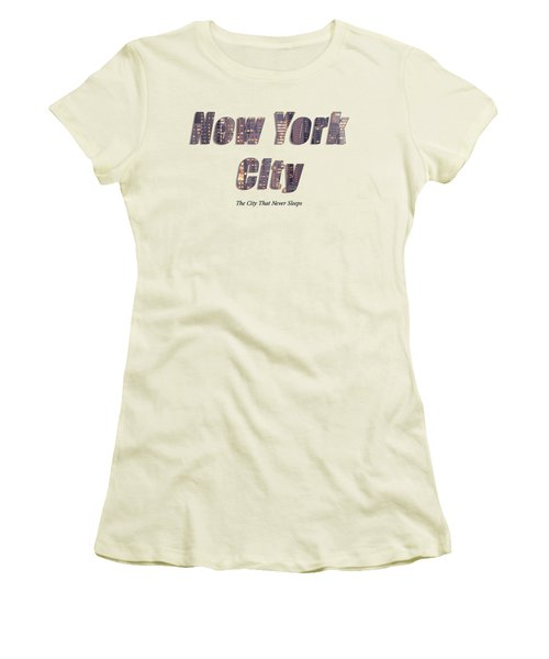 Nyc T-shirt Women's T-Shirt (Athletic Fit)