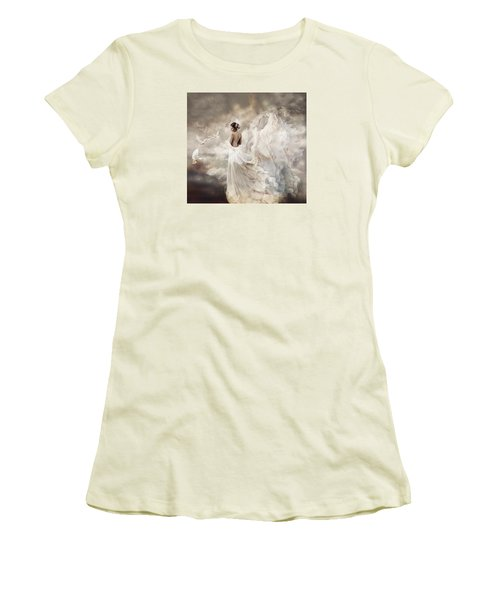Nymph Of The Sky Women's T-Shirt (Junior Cut) by Lilia D