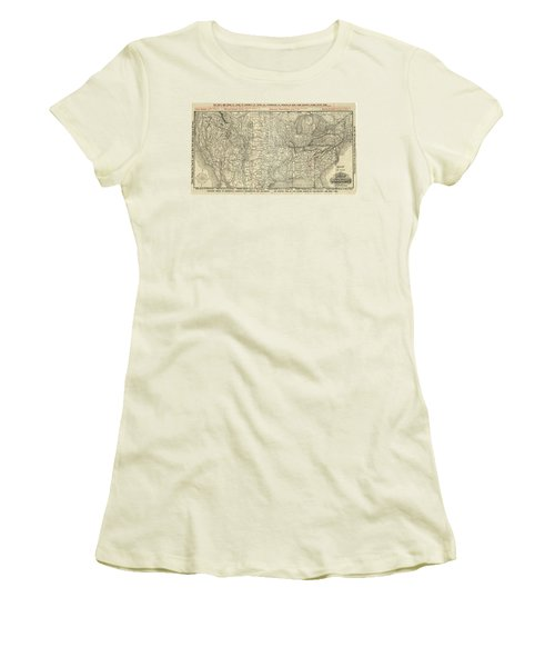 O And M Map Women's T-Shirt (Athletic Fit)