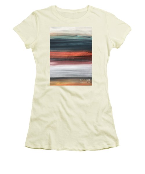 Oak Creek #30 Southwest Landscape Original Fine Art Acrylic On Canvas Women's T-Shirt (Athletic Fit)