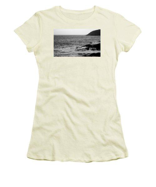 Women's T-Shirt (Junior Cut) featuring the photograph Ocean Drive by Greg DeBeck