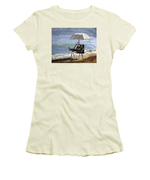 Ocean Reader Women's T-Shirt (Athletic Fit)