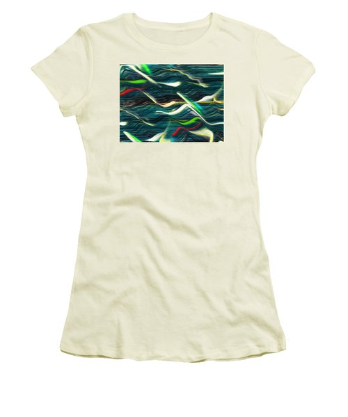 Ocean Run 2 Women's T-Shirt (Junior Cut) by Yul Olaivar