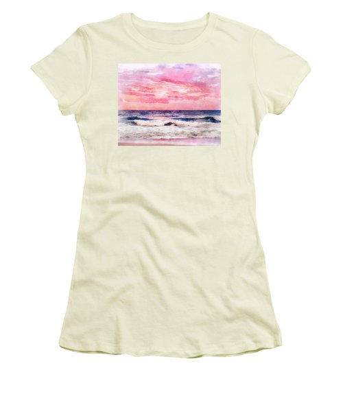Ocean Sunrise Women's T-Shirt (Junior Cut) by Francesa Miller
