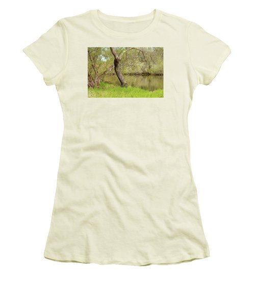 Women's T-Shirt (Junior Cut) featuring the photograph Oceano Lagoon by Art Block Collections