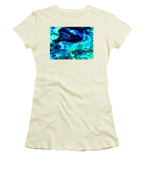 Women's T-Shirt (Junior Cut) featuring the photograph Ocean Reflections  by Colette V Hera  Guggenheim