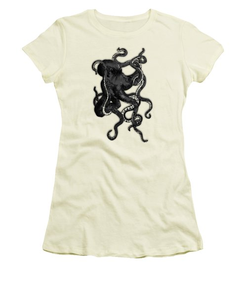 Octopus Women's T-Shirt (Junior Cut) by Nicklas Gustafsson