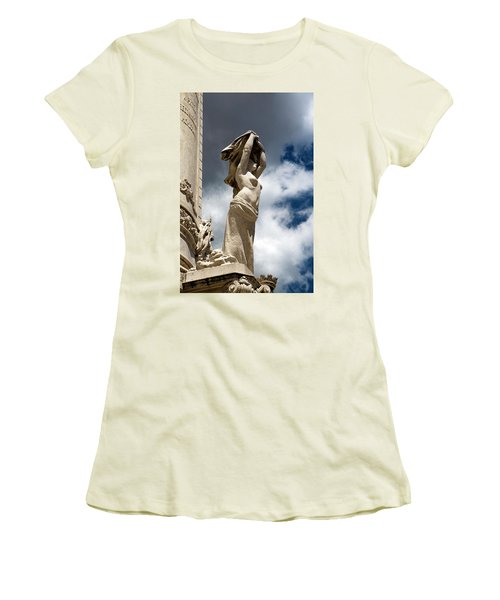 Of Shadow And Sky In Marquis De Pombal Square Women's T-Shirt (Athletic Fit)