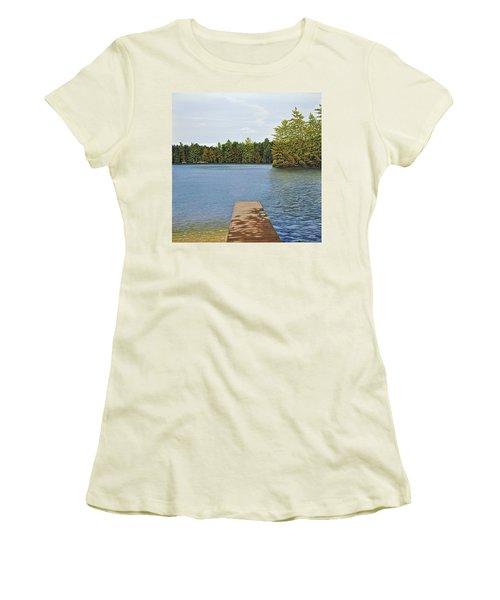 Off The Dock Women's T-Shirt (Junior Cut) by Kenneth M  Kirsch