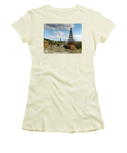 Women's T-Shirt (Athletic Fit) featuring the photograph Oil Well by Granger