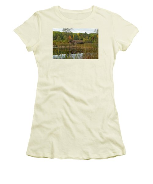 Old Bait Shop On Twin Lake_9626 Women's T-Shirt (Athletic Fit)