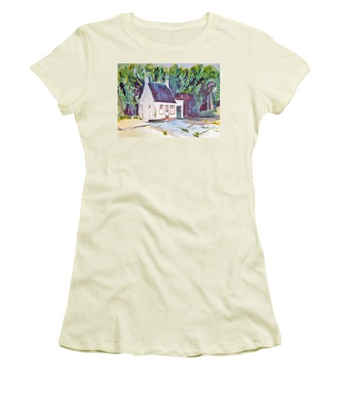 Former Old Country Gas Station Women's T-Shirt (Athletic Fit)