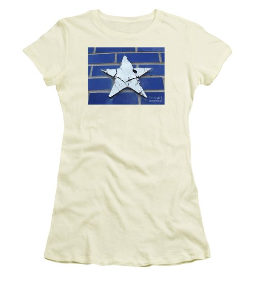 Old Glorys Star Women's T-Shirt (Junior Cut) by Erick Schmidt