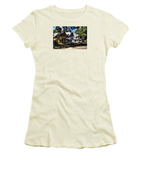 Women's T-Shirt (Junior Cut) featuring the photograph Old Homes Martha's Vineyard by Donald Williams