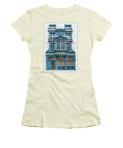 Women's T-Shirt (Athletic Fit) featuring the digital art Old Irish Architecture by Hanny Heim