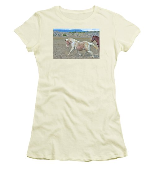 Women's T-Shirt (Junior Cut) featuring the photograph Old Mare by Debby Pueschel