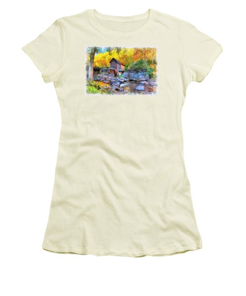 Old Mill Aquarelle Women's T-Shirt (Athletic Fit)