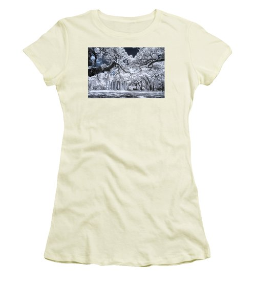 Old Sheldon Church In Infrared Women's T-Shirt (Athletic Fit)